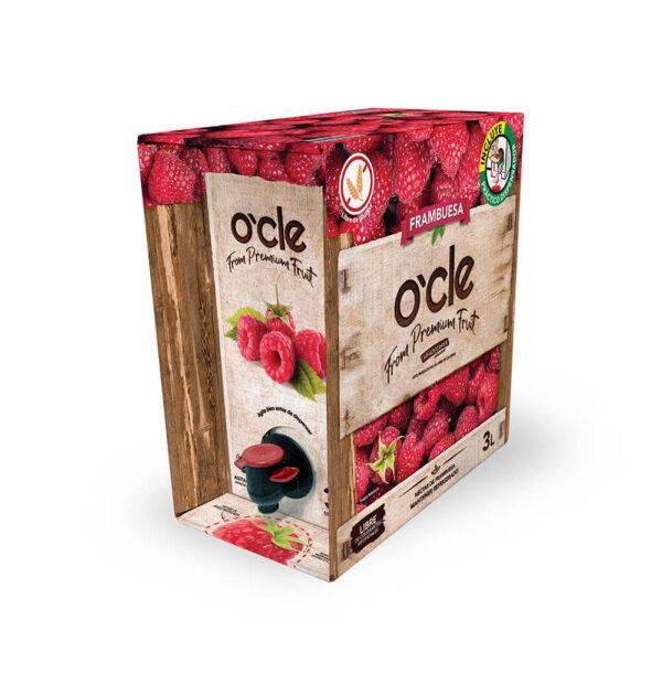 ocle caja en blanco sabores frambuesa 3 1
